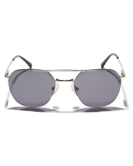 POLISHED SILVER MENS ACCESSORIES LOCAL SUPPLY SUNGLASSES - RAILWAYSRP1PSIL