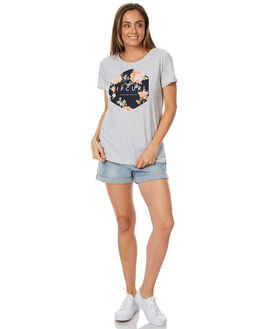 LIGHT GREY HEATHER WOMENS CLOTHING RIP CURL TEES - GTESH1GRY