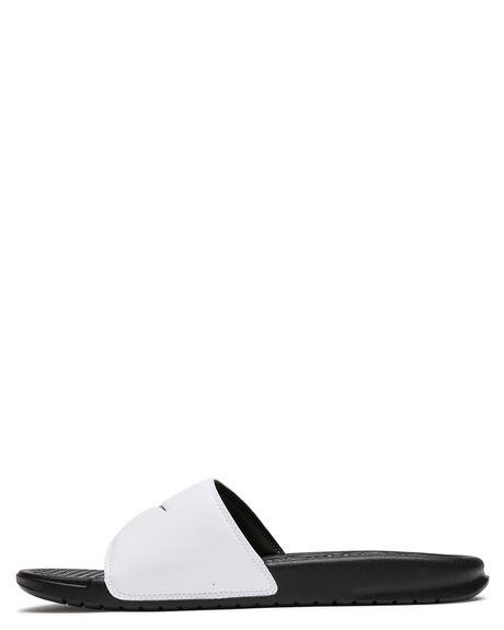 WHITE BLACK MENS FOOTWEAR NIKE SLIDES - SS343880-100M