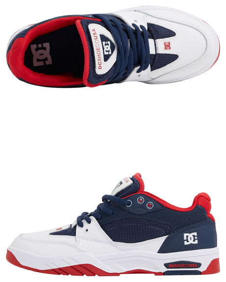 NAVY WHITE MENS FOOTWEAR DC SHOES SNEAKERS - ADYS100473-NVW