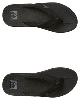 BLACK MENS FOOTWEAR REEF THONGS - 2046BLA