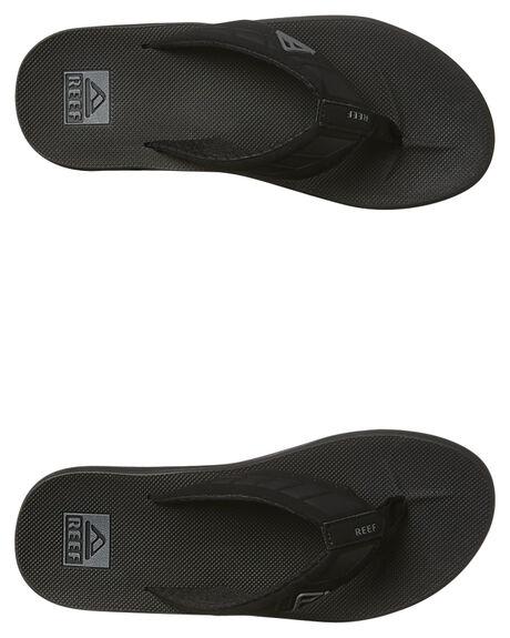 BLACK MENS FOOTWEAR REEF THONGS - 2046BLA