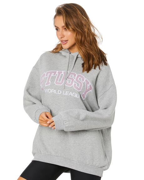 GREY MARLE WOMENS CLOTHING STUSSY JUMPERS - ST1M0149GRY