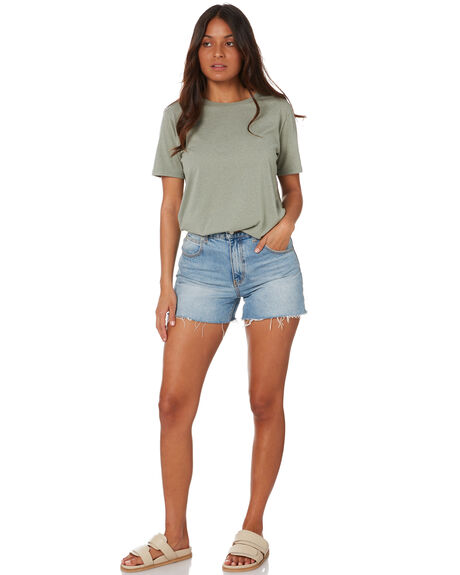 MINERAL GREEN OUTLET WOMENS SWELL TEES - S8211007MINGN