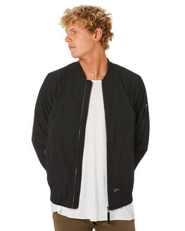 BLACK MENS CLOTHING ACADEMY BRAND JACKETS - 20W213BLK