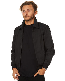 BLACK MENS CLOTHING AFENDS JACKETS - 07-01-063BLK