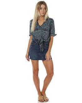 CLASSIC INDIGO WOMENS CLOTHING RVCA SKIRTS - R261835CLASS