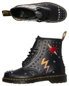 BLACK WOMENS FOOTWEAR DR. MARTENS BOOTS - SS24207001BLKW