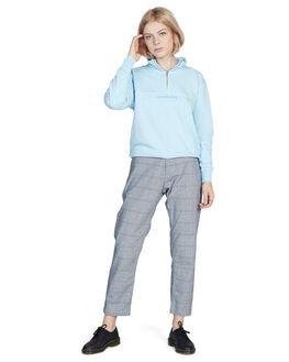 NAVY BLAZER CHECK WOMENS CLOTHING QUIKSILVER PANTS - EQWNP03003-BYJ1