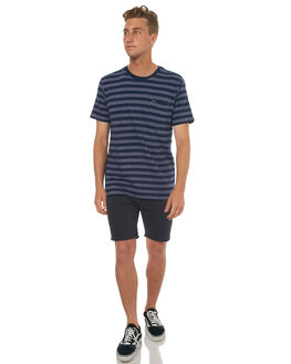 FEDERAL BLUE MENS CLOTHING RVCA TEES - R372042FBLU