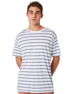 WHITE STRIPE MENS CLOTHING BARNEY COOLS TEES - 100-CR4WHTST
