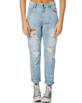 BLEACH DISTRESSED WOMENS CLOTHING THE HIDDEN WAY JEANS - H8173191BDIST