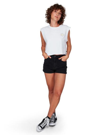 VINTAGE BLAC WOMENS CLOTHING RVCA SHORTS - RV-R281312-VBC