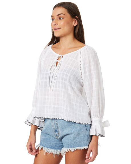 WHITE OUTLET WOMENS THE HIDDEN WAY FASHION TOPS - H8183170WHITE
