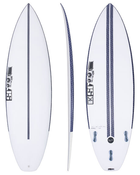 BLACK WHITE BOARDSPORTS SURF JS INDUSTRIES SURFBOARDS - JSMBHFBKWHI