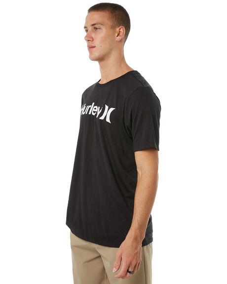 BLACK MENS CLOTHING HURLEY TEES - AH7935010
