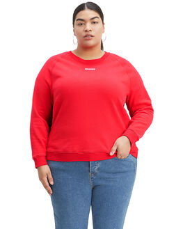 BRILLIANT RED WOMENS CLOTHING LEVI'S JUMPERS - C56319-0010
