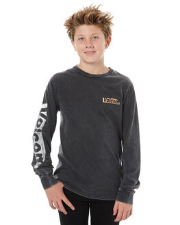 BLACK KIDS BOYS VOLCOM TEES - C3611874BLK