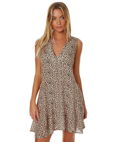 LEOPARD PRINT WOMENS CLOTHING THE FIFTH LABEL DRESSES - TX170345D-PRT2LEO