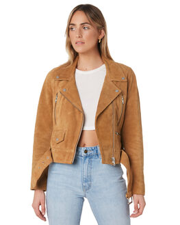 TAN SUEDE WOMENS CLOTHING NEUW JACKETS - 38170-3738