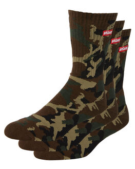 MULTI MENS CLOTHING STUSSY SOCKS + UNDERWEAR - ST787015MUL