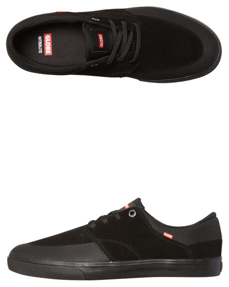 BLACK MENS FOOTWEAR GLOBE SKATE SHOES - GBCHASE-10001