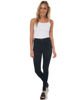 BLACK WOMENS CLOTHING DR DENIM JEANS - 1510112-101BLK1