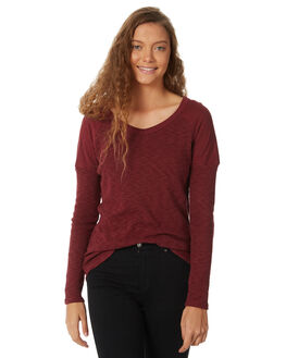 RED WOMENS CLOTHING ELEMENT TEES - 288101RED