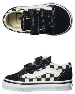BLACK WHITE KIDS TODDLER BOYS VANS FOOTWEAR - VNA38JNPOSBLK