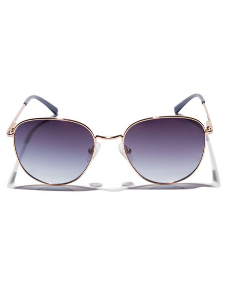 POLISHED ROSE GOLD MENS ACCESSORIES LOCAL SUPPLY SUNGLASSES - BAYRGP4PRGLD