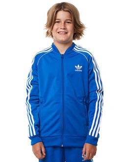 BLUE KIDS BOYS ADIDAS ORIGINALS JACKETS - CF8553BLU