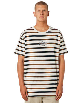 WHITE SAND MENS CLOTHING STUSSY TEES - ST096102WHTSD