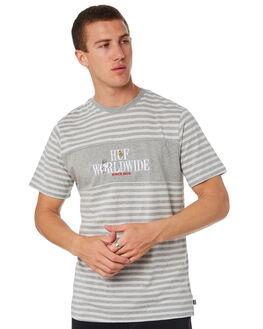 GREY MENS CLOTHING HUF TEES - KN00103-GREY