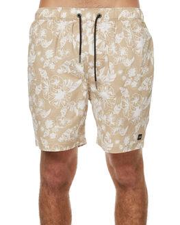 BEIGE BONE MENS CLOTHING ZANEROBE BOARDSHORTS - 606-TDKIBEIG