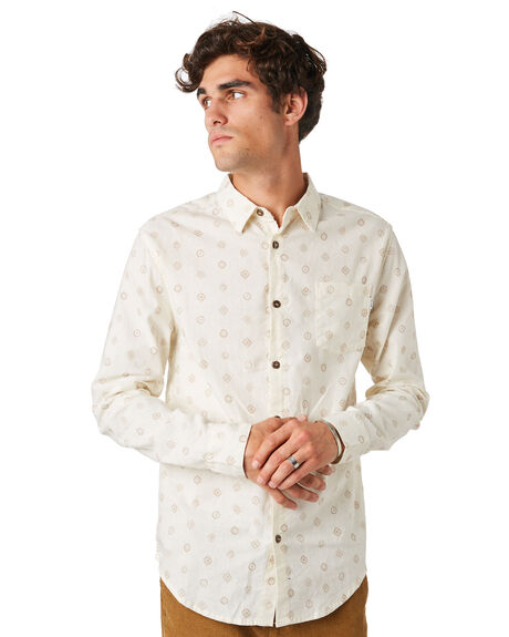 WHITE MENS CLOTHING RHYTHM SHIRTS - JAN20M-WT07-WHT