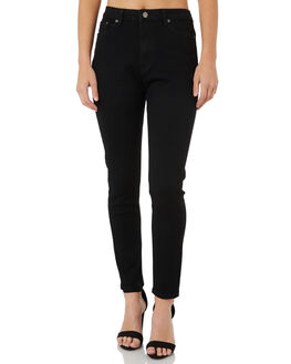 WASHED BLACK WOMENS CLOTHING THE HIDDEN WAY JEANS - H8183195WSHBK