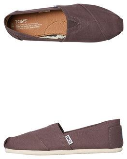 GREY MENS FOOTWEAR TOMS SLIP ONS - 001001A07-GREY