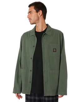 FLIGHT GREEN MENS CLOTHING STUSSY JACKETS - ST005502FLGRN