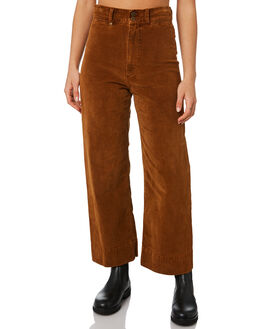 MUSTANG BROWN WOMENS CLOTHING THRILLS PANTS - WTA20-452CMSTBR