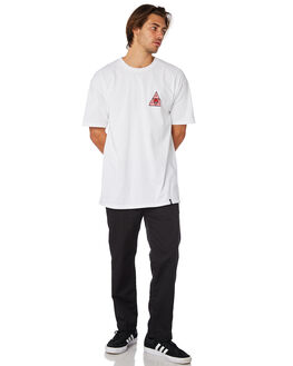 WHITE MENS CLOTHING HUF TEES - TS00656WHT