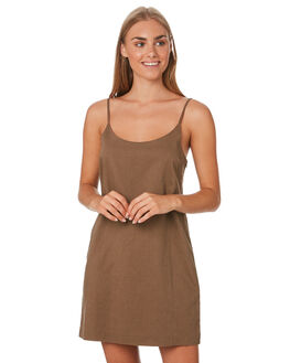 CHOCOLATE WOMENS CLOTHING NUDE LUCY DRESSES - NU23737CHOC