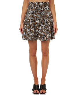 BLACK FLORAL MUSE WOMENS CLOTHING THE FIFTH LABEL SKIRTS - 40170949-2001