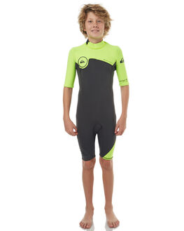 BLACK YELLOW METAL SURF WETSUITS QUIKSILVER SPRINGSUITS - EQBW503004XKGK