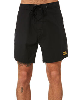 BLACK MENS CLOTHING THRILLS BOARDSHORTS - TR9-302BBLK