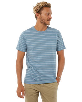MID BLUE MENS CLOTHING RIP CURL TEES - CTEHD28962