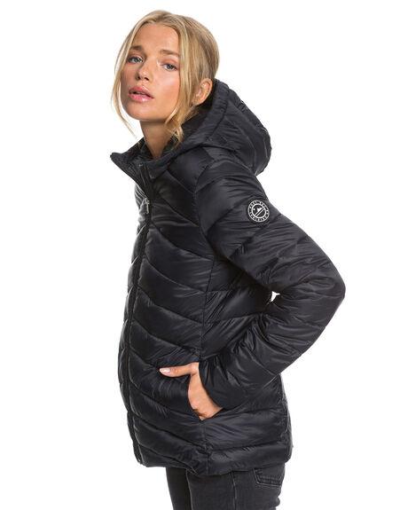 ANTHRACITE WOMENS CLOTHING ROXY JACKETS - ERJJK03388-KVJ0