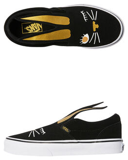 BLACK GOLD KIDS GIRLS VANS SNEAKERS - VNA3MVYZX1BLKGL
