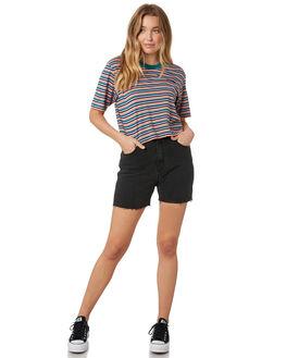 LEVEE BLACK WOMENS CLOTHING WRANGLER SHORTS - W-951621-LQ6