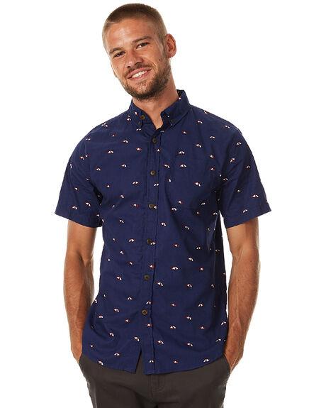 NAVY MENS CLOTHING KATIN SHIRTS - WVUMBS17NVY