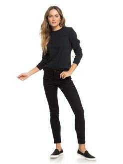 TRUE BLACK WOMENS CLOTHING ROXY JUMPERS - ERJFT03911-KVJ0